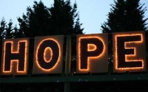 Hope neon sign