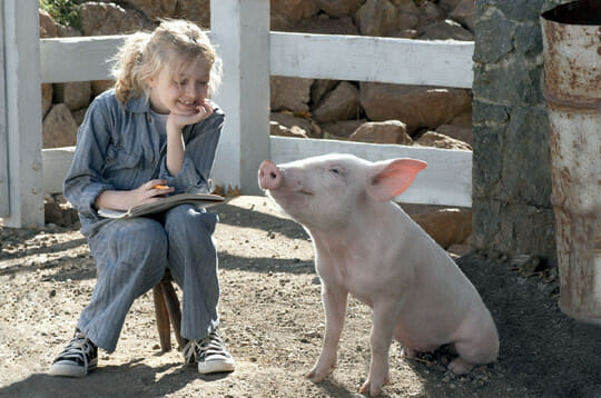 A scene from the movie Charlotte's Web