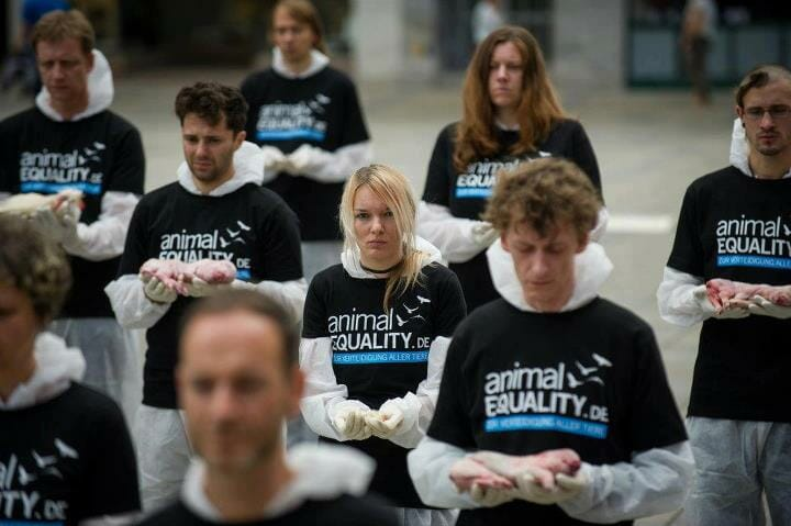 Animal Equality Demonstration in Germany