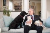 Philip Wollen with his dogs