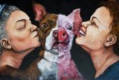 """""""Pals. Palatable"""" acrylic on canvas by Dana Ellyn  www.danaellyn.com"""