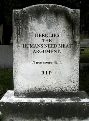 do some humans just need meat?