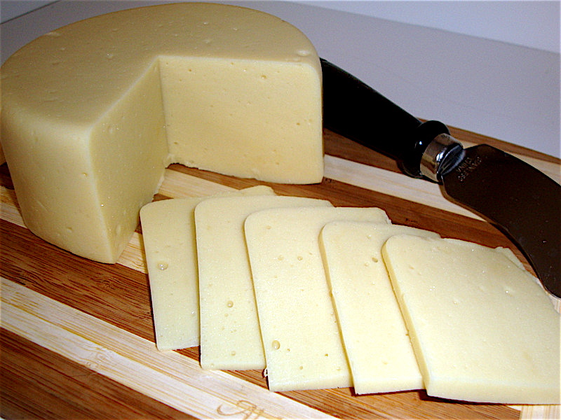 "<a href=""http://thegentlechef.com/NDECindex.php"" target=""_blank"">The Non-Dairy Evolution</a>'s Alpine Swiss is a firm cheese with a mild, nutty flavor that is uncannily reminiscent of dairy Swiss cheese. It can be thinly sliced and served on cold sandwiches, grilled and melted on hot sandwiches or shredded and used in recipes."