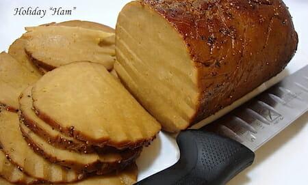 Do-it-yourself vegan ham from The Gentle Chef Cookbook.