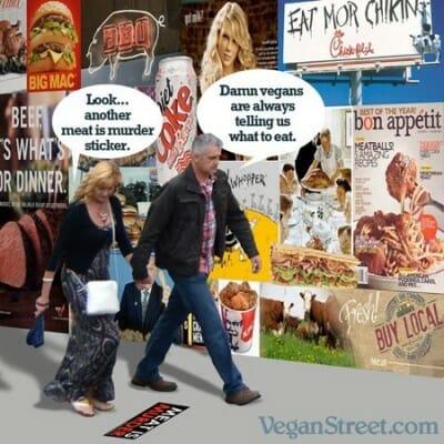 animal advocates and vegans are pushy