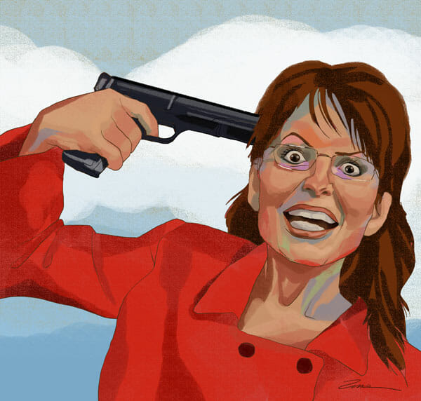 evolution, gun to your head, sarah palin