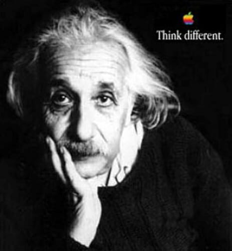Apple Think Different campaign with Albert Einstein