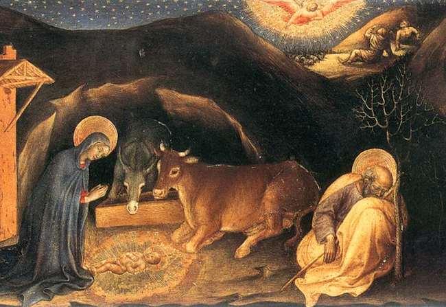 Detail from Nativity, by Gentila da Fabriano. Public domain.